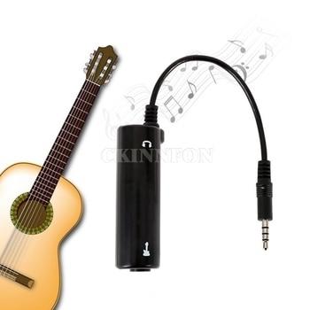 100 sztuk/partia Guitar Link Audio interfejs System AMP wzmacniacz efekty gitarowe pedał konwerter Adapter Cable Jack dla iPhone/Android