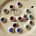 30pcs 14*18mm BJD dolls eyes Plastic eyeballs doll accessories BJD toys accessories