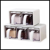 Party Favors Salt and Pepper Shakers Spice Rack Spice Storage Jars Seasoning Container Porta Condimentos Temperos