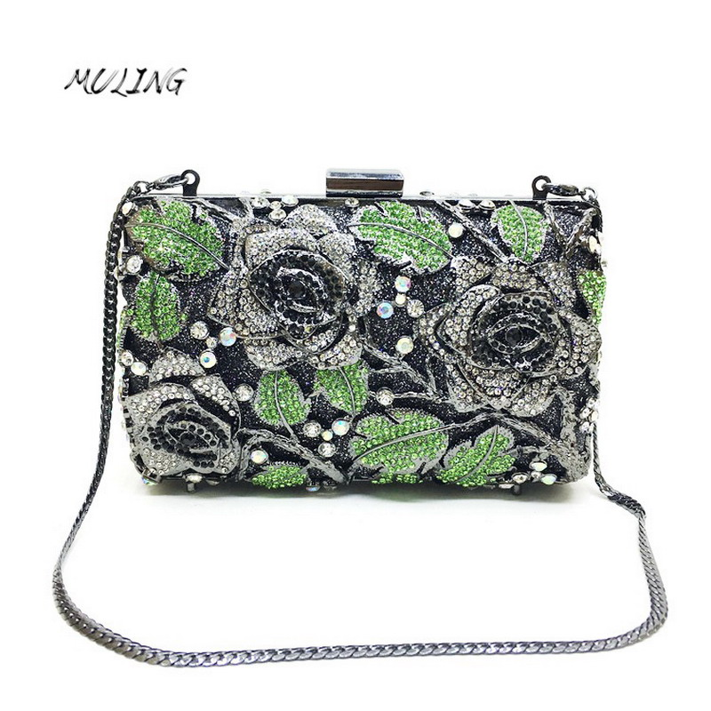 Fashion Handbags 2017 Stickers Package Banquet Package Evening Crystal Women Wallets Party Female Purses Floral Female Clutch luxury crystal clutch handbag women evening bag wedding party purses banquet