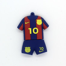 19a52600075 Fashion Flashdisk 128 GB USB Flash Drive 64 GB 32 GB 16 GB 8 GB Pena Drive Barcelona  Sepak Bola Jersey barca Messi Memoria USB M..