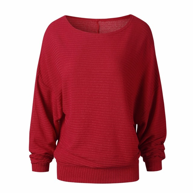 High Quality Sweater Women Autumn Winter Loose Long Batwing Sleeve Sweater Tops New Fashion Pullovers Thin Sweaters Jumper