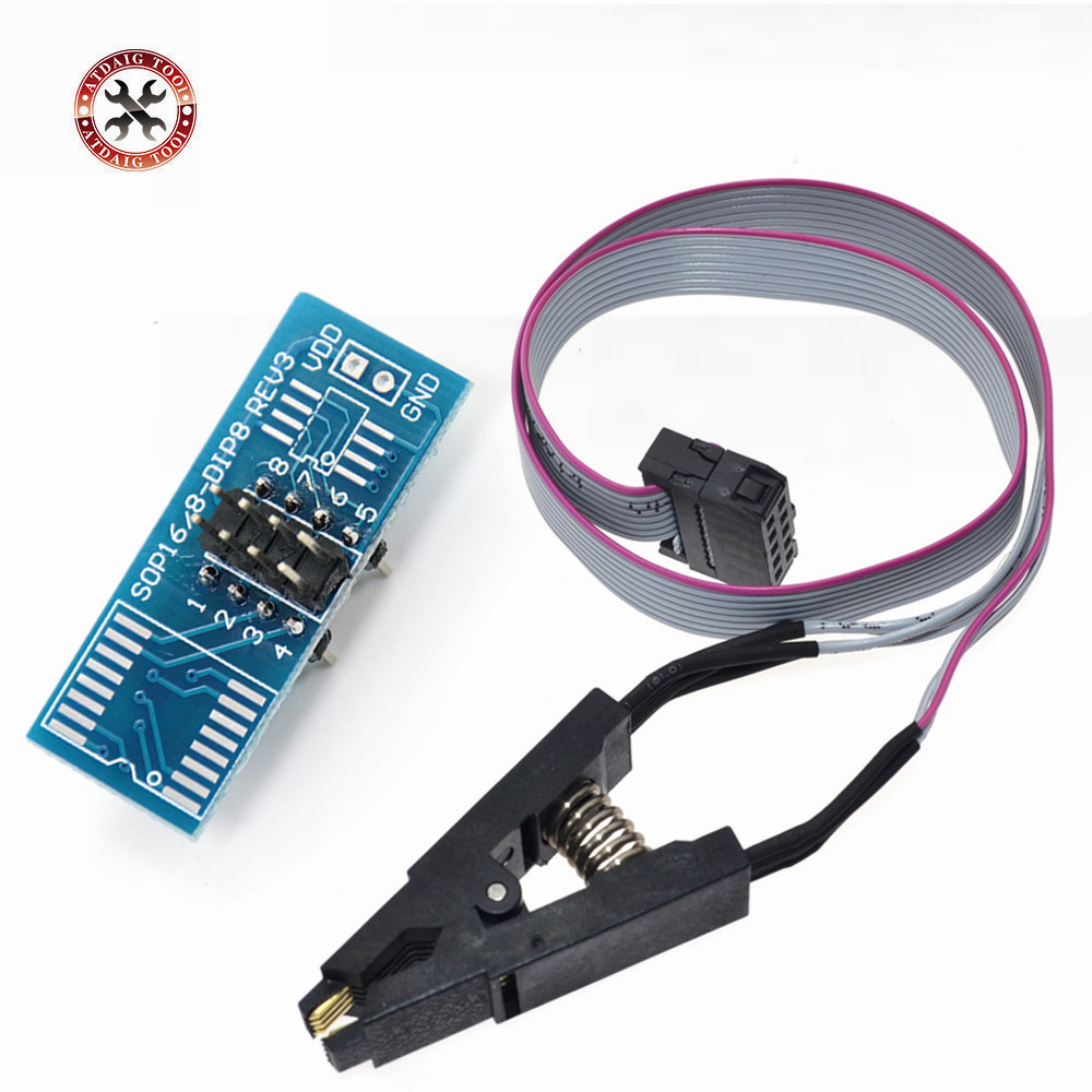 2021 Лидер продаж SOIC8 SOP8 флэш-памяти зажим для проверки ИС розетка адаптер BIOS/24/25/93 программер Бесплатная доставка