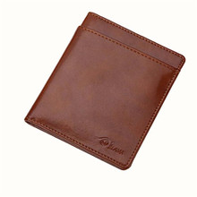 Men Women Leather Card Cash Receipt Holder Women's Purse Visiting Cards Men's Wallet Organizer Bifold Wallet Purse Feminino #589