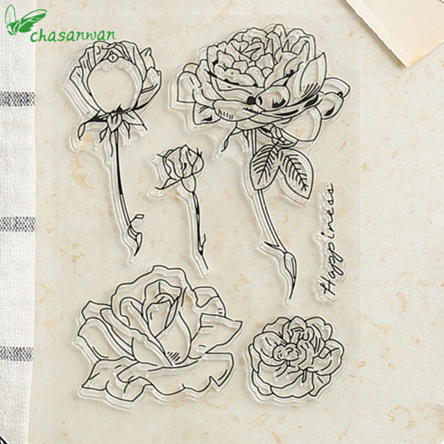Clear Stamps Cute Designs Transparent Clear Rubber Stamp Seal Paper