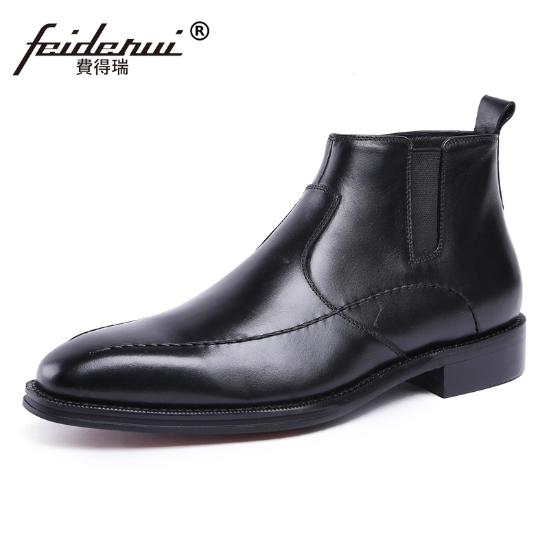 Classic Italian Handmade Man High-Top Chelsea Shoes Genuine Leather Men's Luxury Martin Cowboy Formal Wedding Ankle Boots JS70 luxury brand formal designer british man shoes genuine leather handmade men s chelsea cowboy martin ankle boots jd67