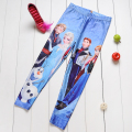 NEW 1017 Cute Kids Children Girl Cartoon Snow Snowflake Anna Elsa princess 3D print Workout Elastic Fitness Leggings Pants