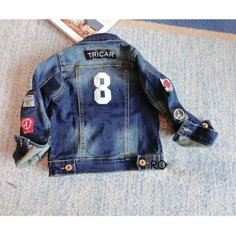 451b6a132f4 Spring Autumn Baby Boy Denim Jacket for Kids 2018 Children Jean Coat  Fashion Outerwear Coats Toddler