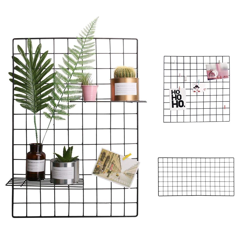 DIY Grid Photo Wall Multifunctional Wall Mounted Ins Mesh Display Panel,Wall Art Display Organizer Memo Board