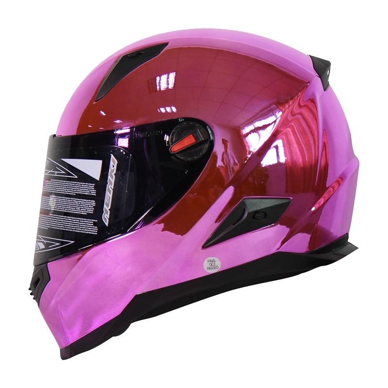 Top Chrome Motorcycle Helmet Motor Bike Capacete de moto Casco Nenki Brand FF863-C universal bike bicycle motorcycle helmet mount accessories