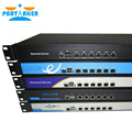 1U Rack Ears Case Intel Celeron C1037u Hardware Firewall Router with Intel PCI-E 1000M 6*82583v