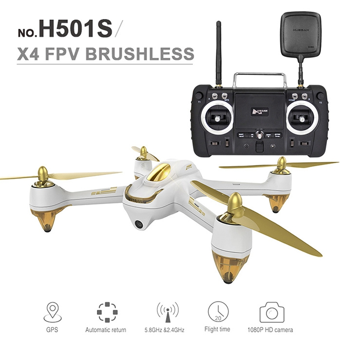 все цены на Hubsan H501S X4 5.8G FPV 10CH Brushless with 1080P HD Camera GPS RC Quadcopter Advanced Version онлайн