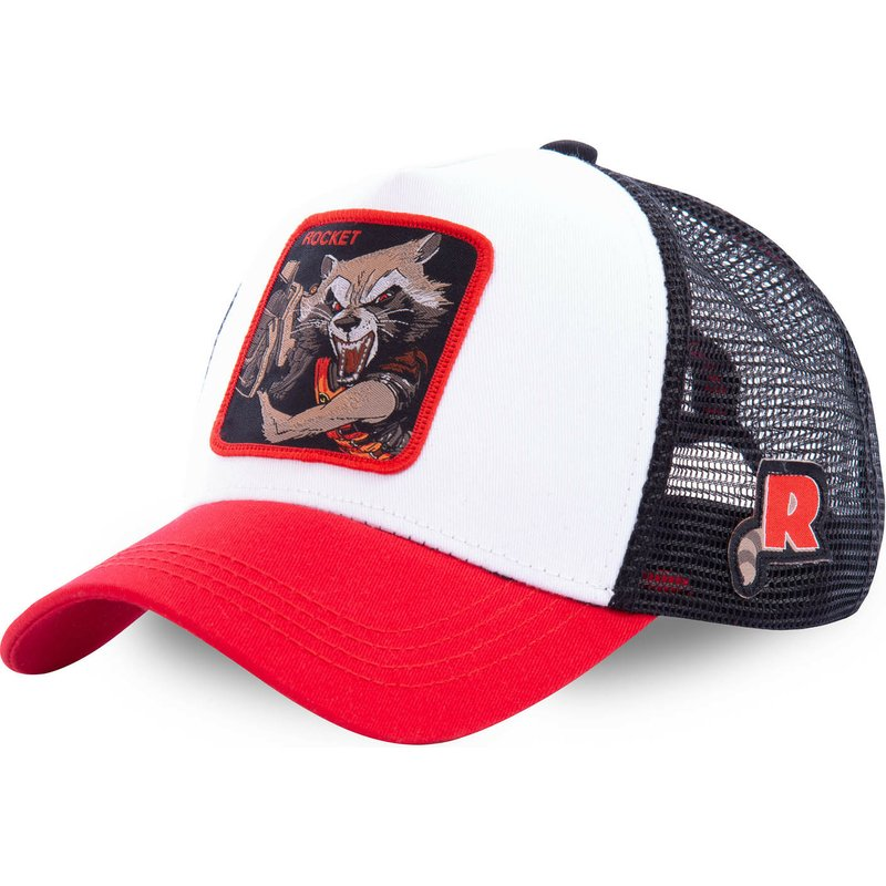 Marvel Superhero ROCKET Snapback   Cap   Cotton   Baseball     Cap   Men Women Hip Hop Dad Hat Trucker Mesh Hat Dropshipping