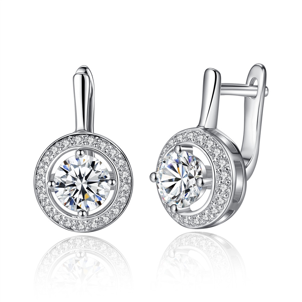 WOSTU New Collection Full Of Love with Round Shape Earrings for Women Jewelry Accessories ZBFE106