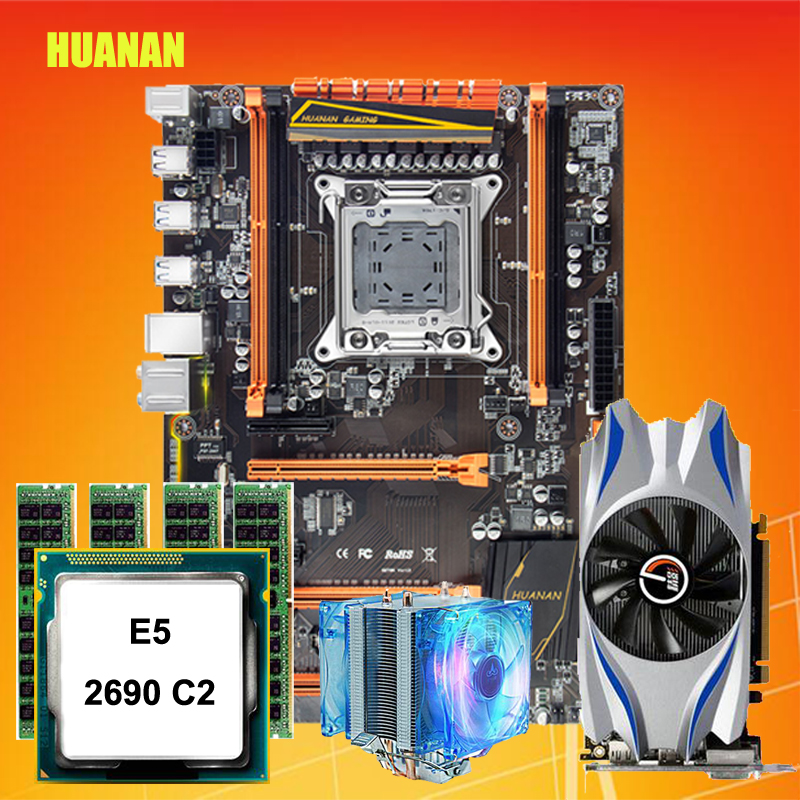 Discount Motherboard With M.2 Slot HUANAN ZHI Deluxe X79 Motherboard Bundle With CPU Xeon E5 2690 C2 RAM 16G(4*4G) GPU GTX650Ti