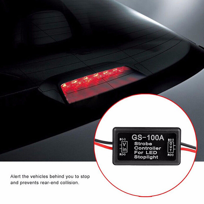 New 12v Gs-100a Led Brake Stop Light Strobe Flash Module Controller Box For Car Aug26 Drop Shipa17 Automobiles & Motorcycles