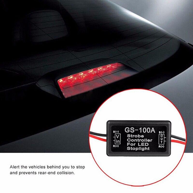 GS-100A flash strobe controlador flasher módulo para carro led luz de freio parar lâmpada 12 v