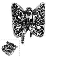 ハロウィンパーティーギフト女性指輪ステンレス鋼蝶妖精リングサイズ8/9/10/11 GMYR150卸売ユニセックスクリスマスリング