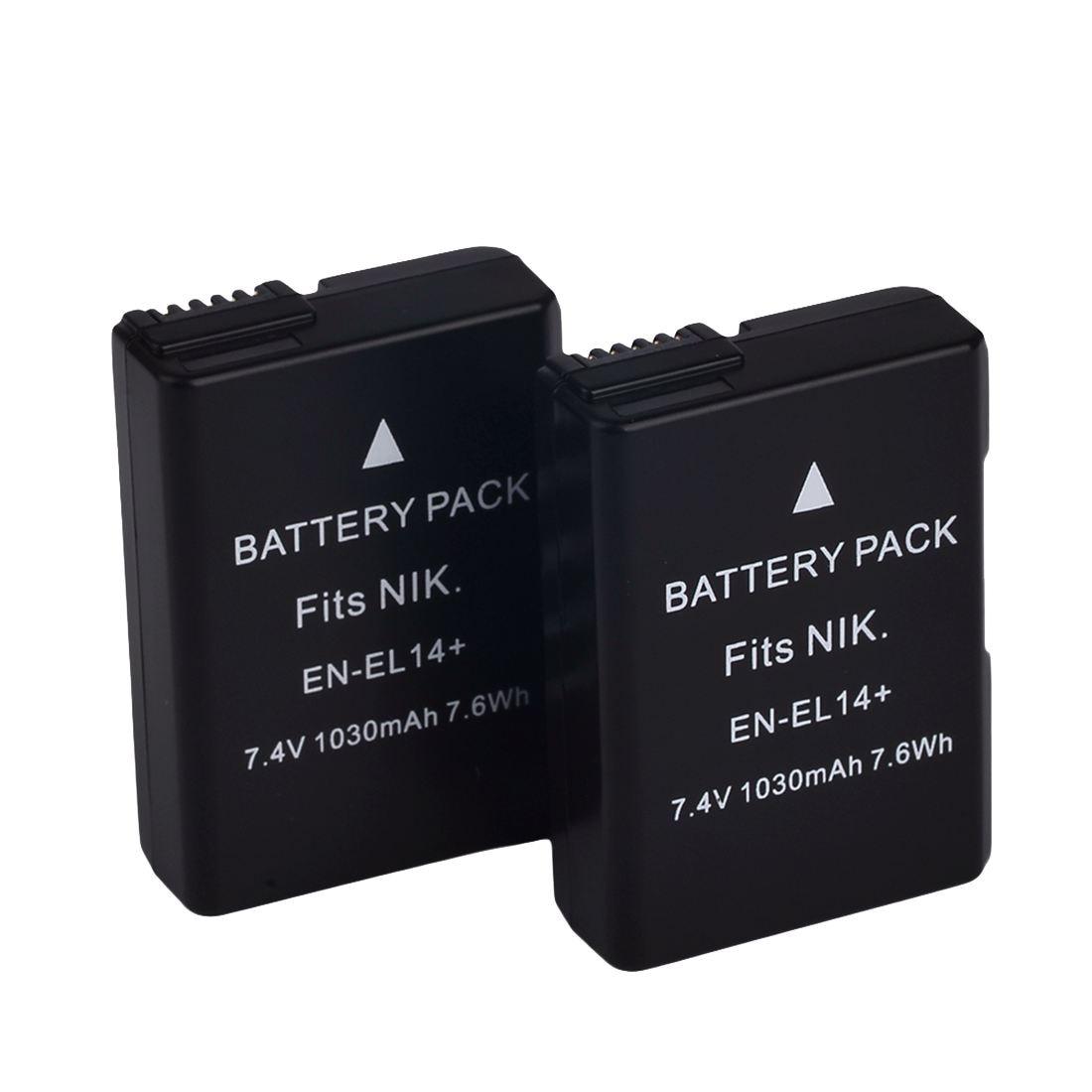Batterie pour Nikon EN-EL14 EN EL14 D3100 D3200 5100 5200 5300 D Coolpix P7800 ROYAUME-UNI