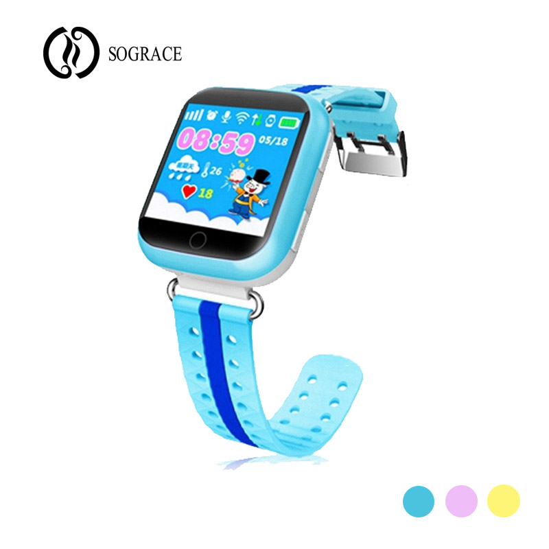 3 Color Children GPS Smart Watch Q750 Q100 Baby Smart Watch With 1.54inch Touch Screen SOS Call children Anti-Lost Monitor Watch