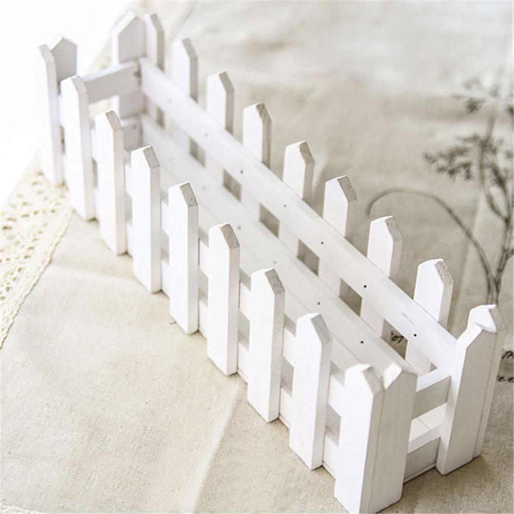 Белый забор деревянный цветок ваза деревянная Цветочные Горшки Забор кашпо цветы Моделирование горшок для дома и сада