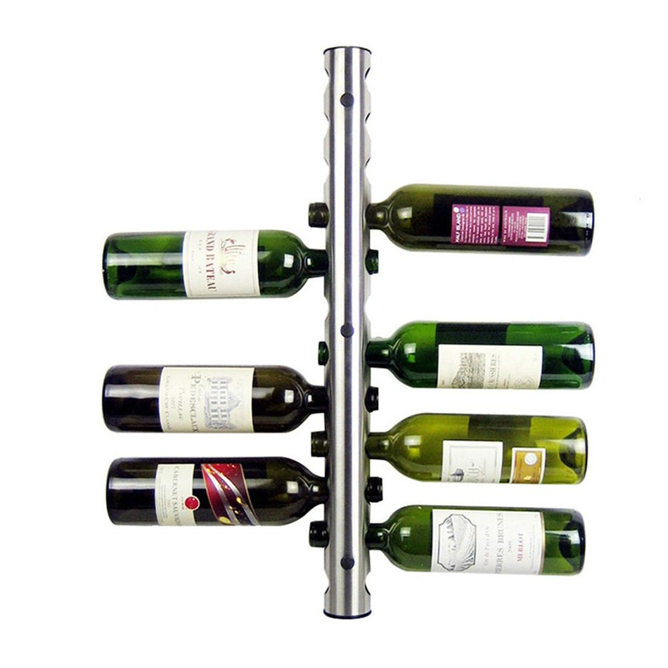 Stainless Steel Metal Wine Rack Holder 12 6 Holes Optional
