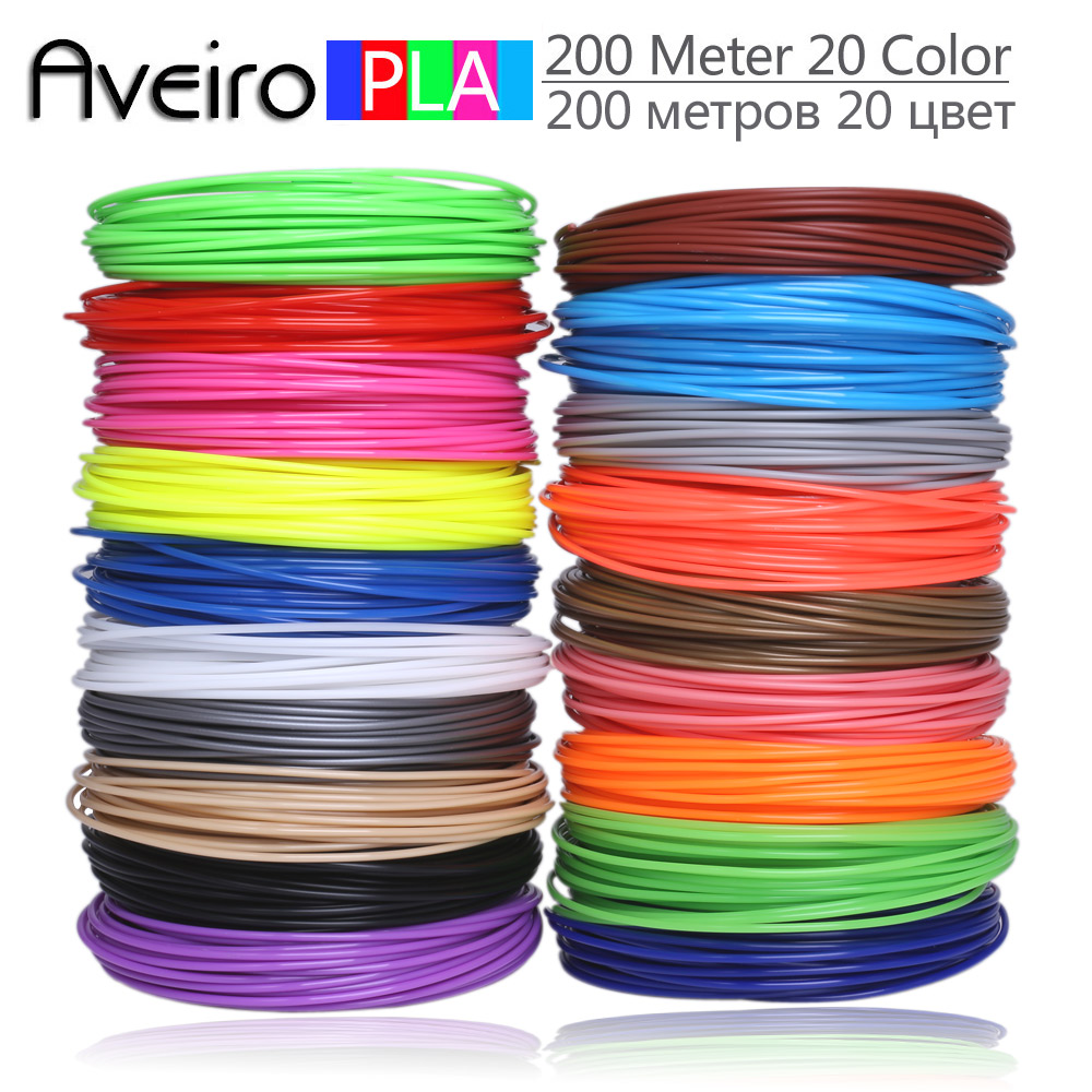<font><b>3D</b></font> <font><b>Pen</b></font> PLA Filament 200 Meters 20 Colors 1.75MM Threads Plastic 3 d Printer Materials For <font><b>3D</b></font> Printing <font><b>Pens</b></font> Kid Birthday's Gifts image