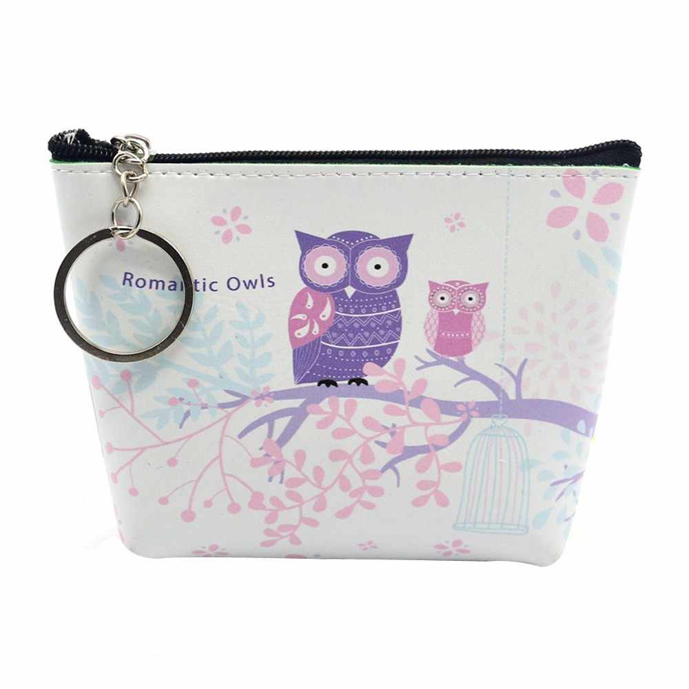 Coin Purses Women Wallets Small Cute Cartoon Animal Card Holder Key Bag Money Bags for Girls Ladies Purse Kids Children spt27