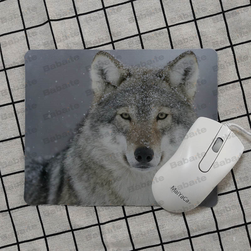 Babaite Non Slip PC wolf small Mouse pad PC Computer mat Top Selling Wholesale Gaming Pad mouse in Mouse Pads from Computer Office