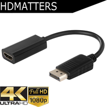 DP to HDMI 4K 1080p cable adapter converter DP in HDMI out for HP Dell