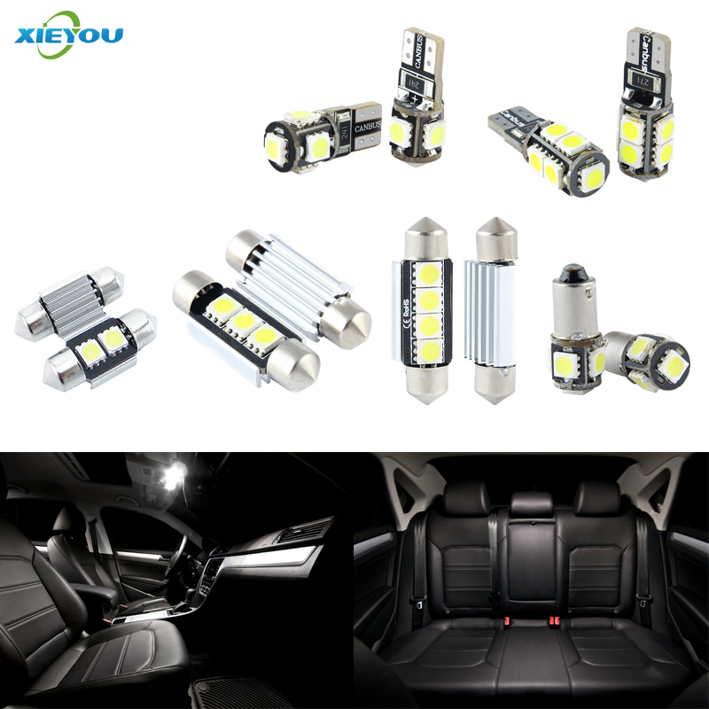 XIEYOU 18pcs LED مجموعة مصابيح الأنوار في canbus - أضواء السيارة