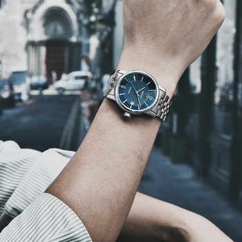 BENYAR New Business Mens Mechanical Watches Waterproof Genuine Leather Brand Luxury Automatic Wristwatch Clock Relogio Masculino