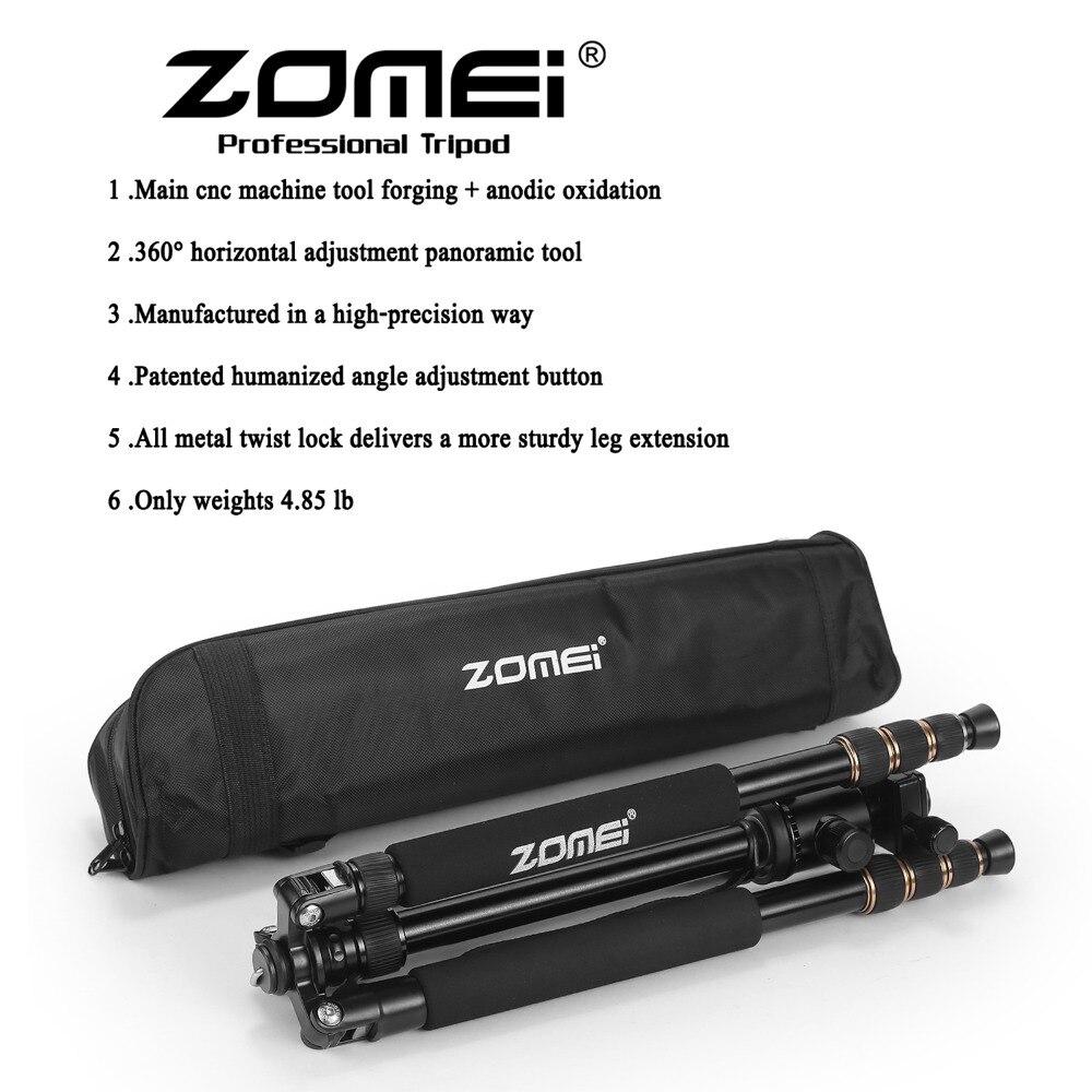 Zomei Z688 Photographique Professionnel Voyage Compact En Aluminium Robuste Trépied Monopode et Rotule pour appareil photo Numérique Reflex Numérique - 6
