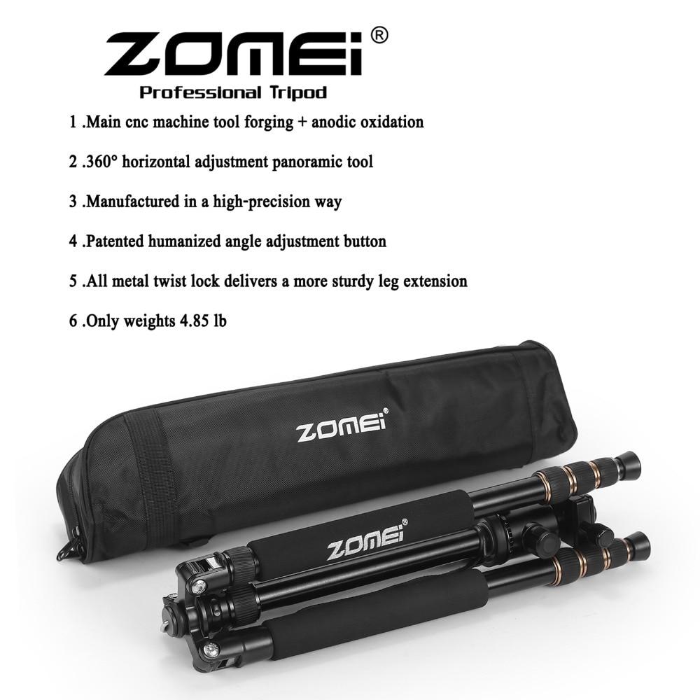 Zomei Z688 professionnel photographique voyage Compact en aluminium robuste trépied monopode et rotule pour appareil photo numérique DSLR - 6