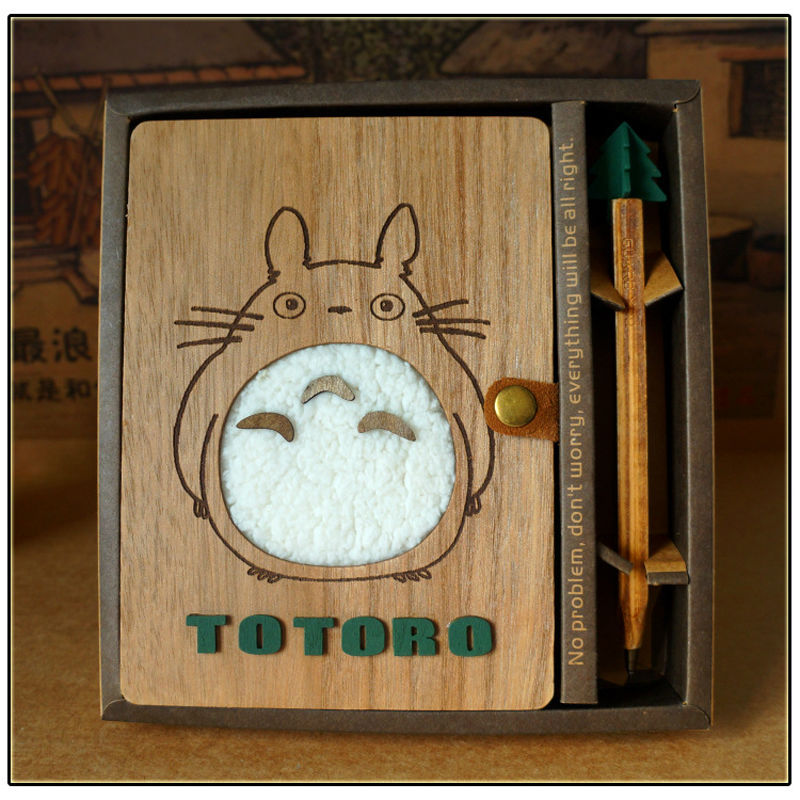 Creative Cute Cartoon Totoro Planner Notebook Diary Book Wooden Chinchilla School Supplies Gift 1Pc 1pc creative cute cartoon animal planner notebook diary book wooden school supplies student gift
