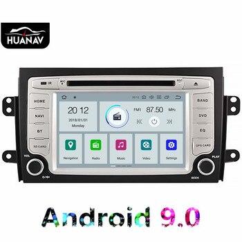 Android 9.0 Car DVD player GPS navigation for Suzuki SX4 2006-2010 Car head unit multimedia Auto car radio player tape recorder