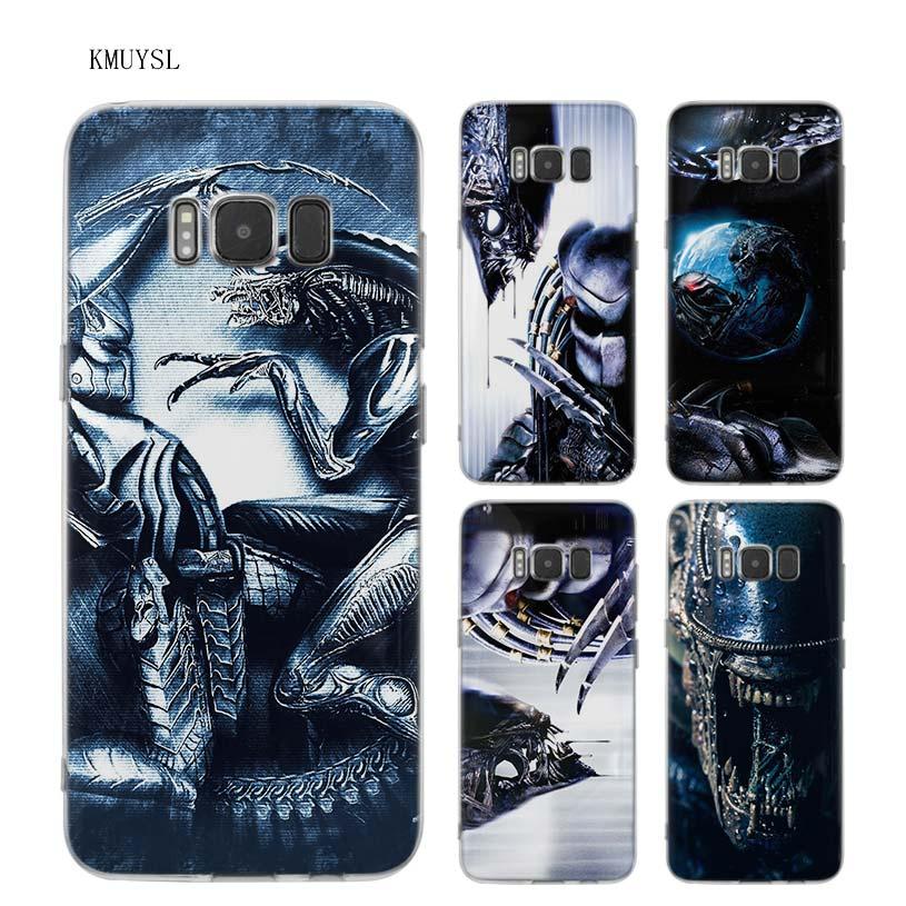 KMUYSL Alien vs Predator TPU Transparent Soft Case Cover Shell Coque for Samsung Galaxy S9 S8 Plus S7 S6 Edge