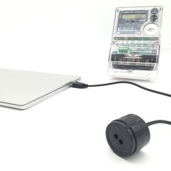 RJ-OPUSB-IEC color negro 2 metros cable recto protocolo de IEC62056-21 medidor inteligente infrarrojo USB sondas ópticas