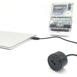 RJ-OPUSB-IEC colore nero 2 metri di cavo dritto IEC62056-21 protocollo contatore intelligente a infrarossi USB ottico sonde