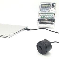 RJ-OPUSB-IEC schwarz farbe 2 meter gerade kabel IEC62056-21 protokoll smart meter infrarot USB optische sonden