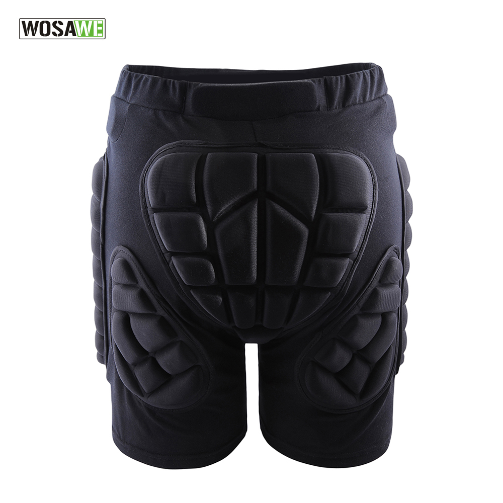 WOSAWE Sports Gear Short Protective Hip Butt Pad Ski Skate Skateboard Snowboard Protection Drop Resistance Roller Padded Shorts