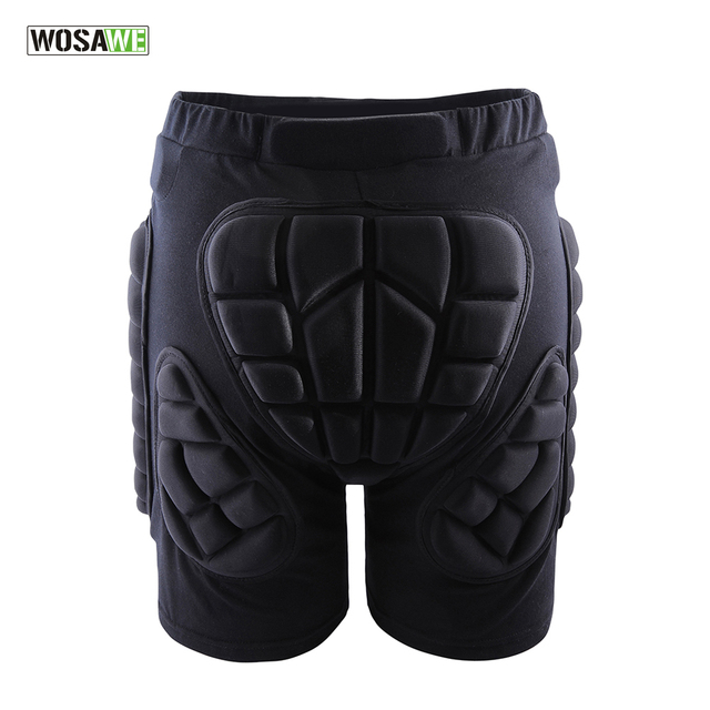 WOSAWE Sports Gear Short Protective Hip Butt Pad Ski Skate Skateboard Snowboard Protection Drop Resistance Roller Padded Shorts