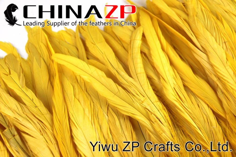 2Yellow Roster tail Feather strung (6)