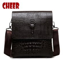 Men's bag men messenger shoulder bags luxury designer handbags high quality crocodile logo briefcase Business clutch men a bag