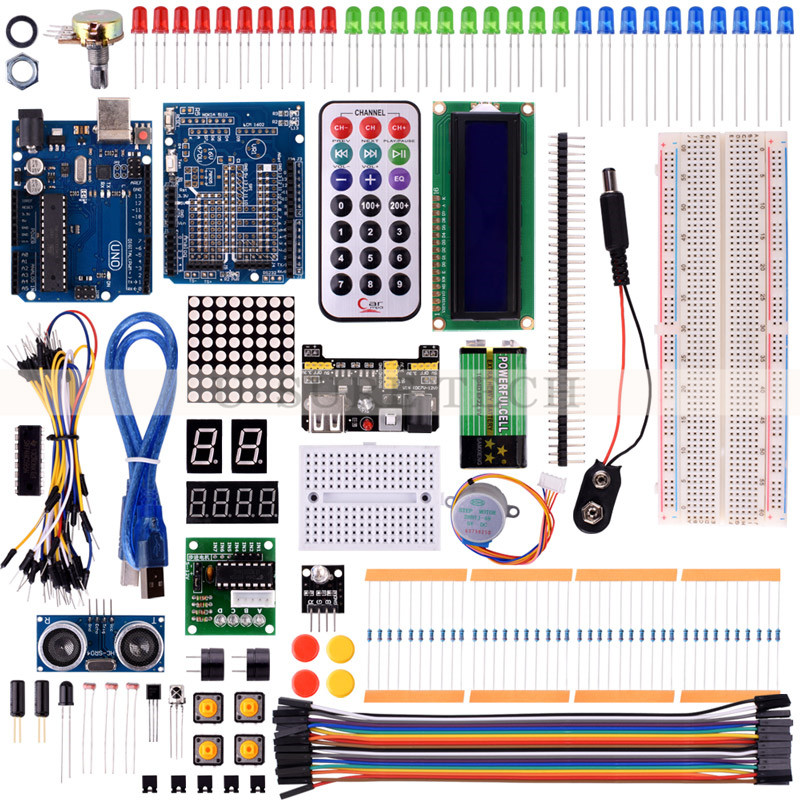 Starter Kits For Arduino Uno R3 With Tutorial UNO R3 KIT Upgraded version Learning Suite Free Shipping цены онлайн