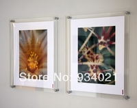 Manufacturer supplies elegant clear acrylic wall photo frame with screws 12 X 12