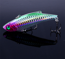 9CM 28G #4 Treble Hook 8 Colors Artificial Hard Bait Laser Fishing Lure VIB Winter Vibration Bass Pesca Crankbait