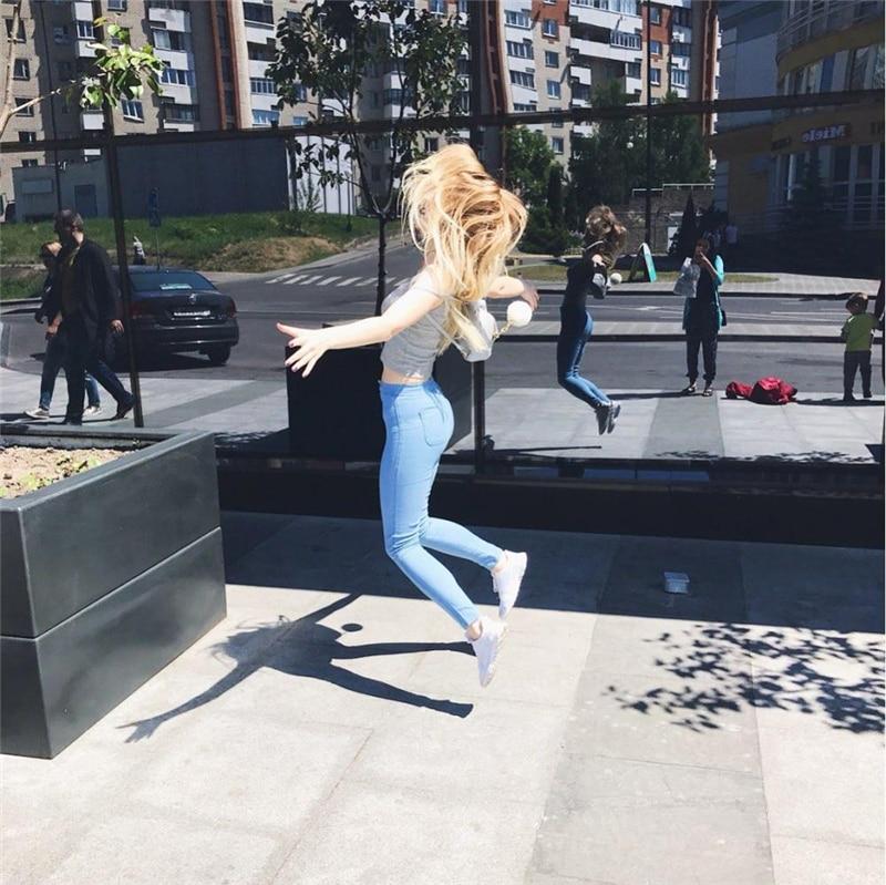Skinny High Waist Slim Jeans 19
