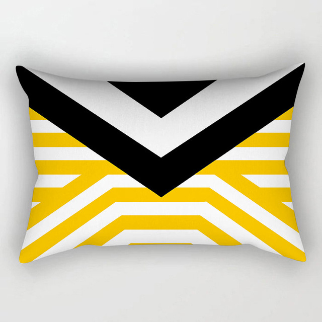 2018 nuovo arrivo giallo serie cuscino copre 30*50 cm della vita decorativo fede