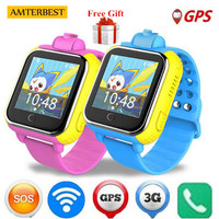 AMTERBEST Q730 720P Camera Kids 3G GPRS GPS Locator Tracker Smart Watch Baby Watch with Camera for IOS Android Phone PK Q50 Q90
